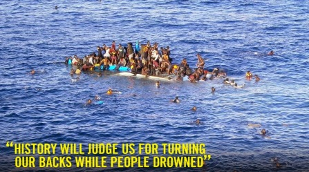 Drowning African emigrants